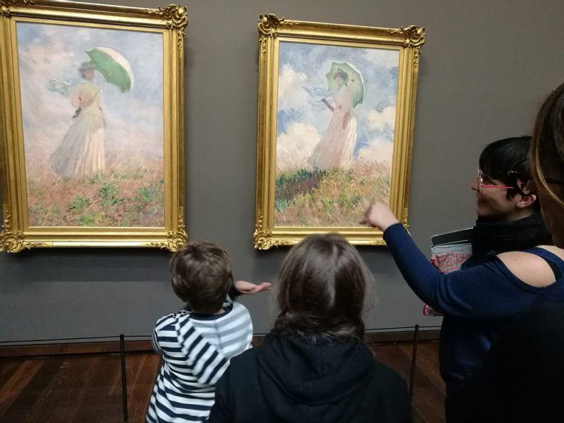 Claude Monet, Femme à l'ombrelle tournée vers la droite, and pendant, Musée d'Orsay
