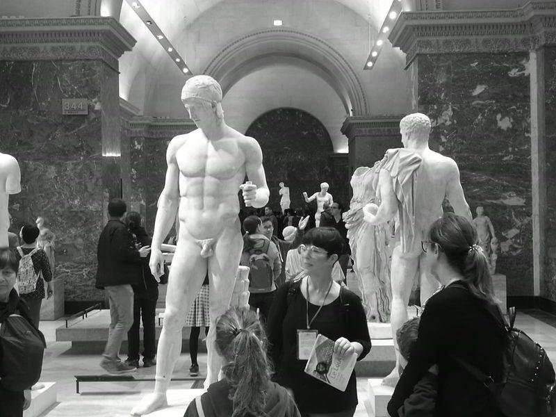 Ancient Roman Statues, Musée du Louvre
