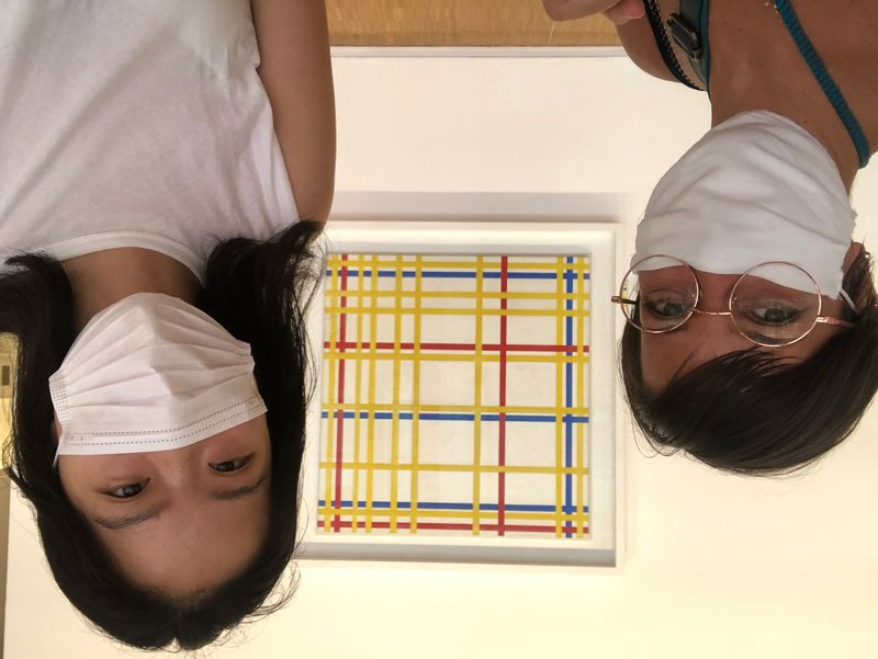 Piet Mondrian, New York City, Pompidou Center