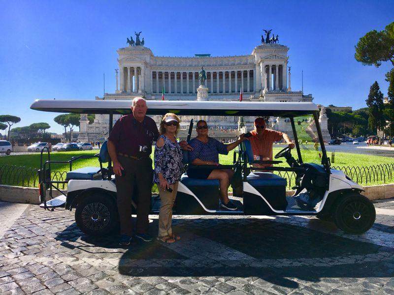 Rome in a Golf Cart
