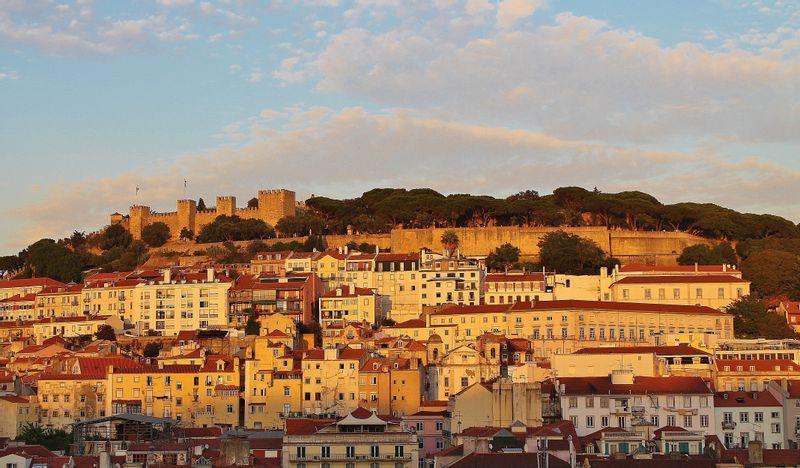View over Saint Jorge Castle in Lisbon