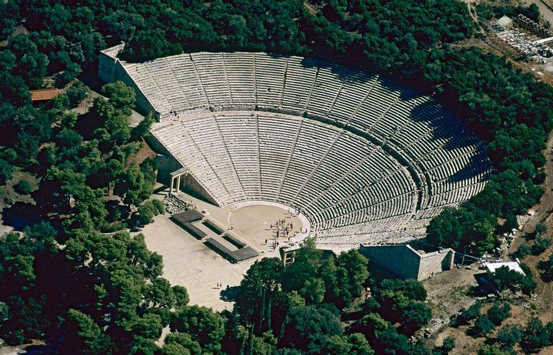 theater of Epidavros archeological site, Agrolida tour