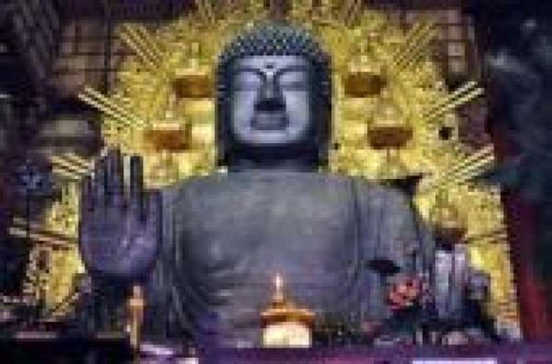 This is the Great Buddha of Nar built in 794.