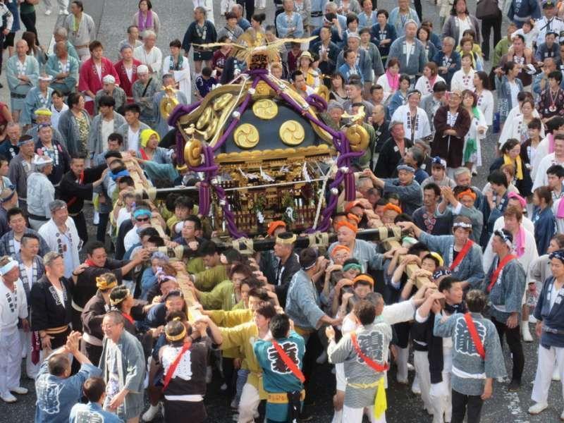 Mikoshi (portable shrine) parade, Yokosuka, Japan