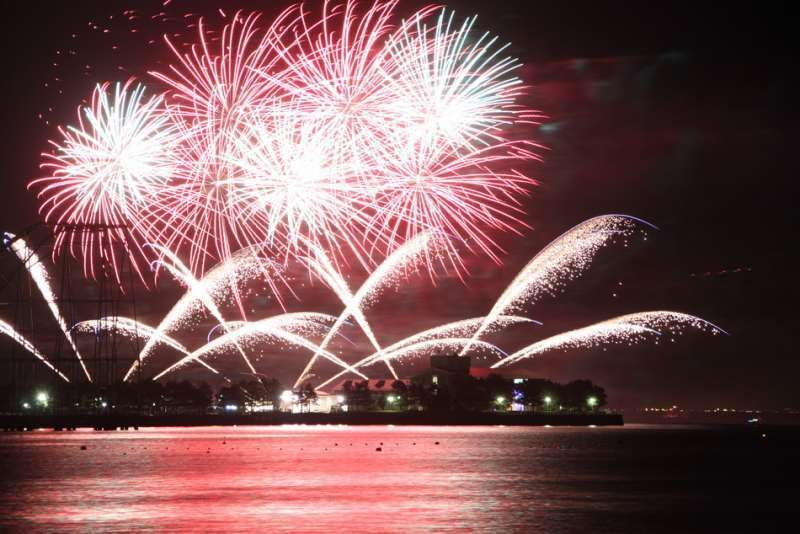 Fireworks at Hakkei-jima, Yokohama, Japan