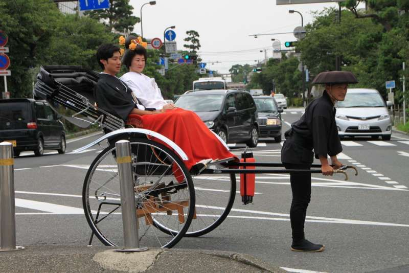 Rickshaw (traditional man-power taxi) in Kamakura, Kanagawa