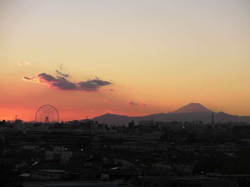 Mt. Fuji from my apartment