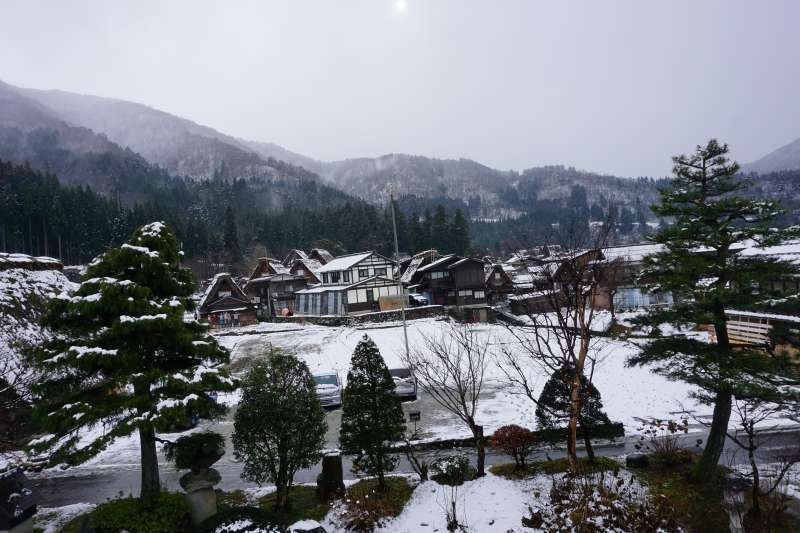 This is one of the photos which has been taken in the world heritage of Shirakawa go.  When you visit there, you would be overwhelmed by the beautiful scenery.
