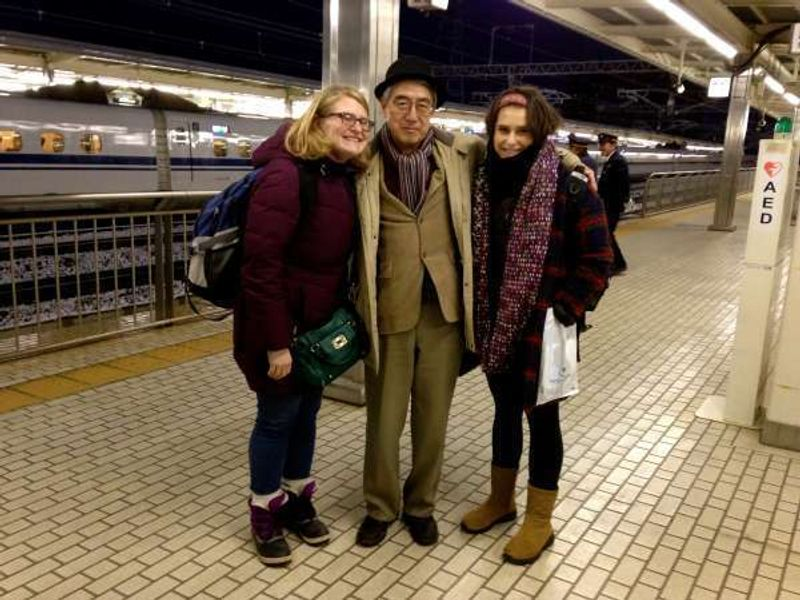 one shot taken at Odawara station after guiding an American family in and around Hokone, a little bit tired but feeling good