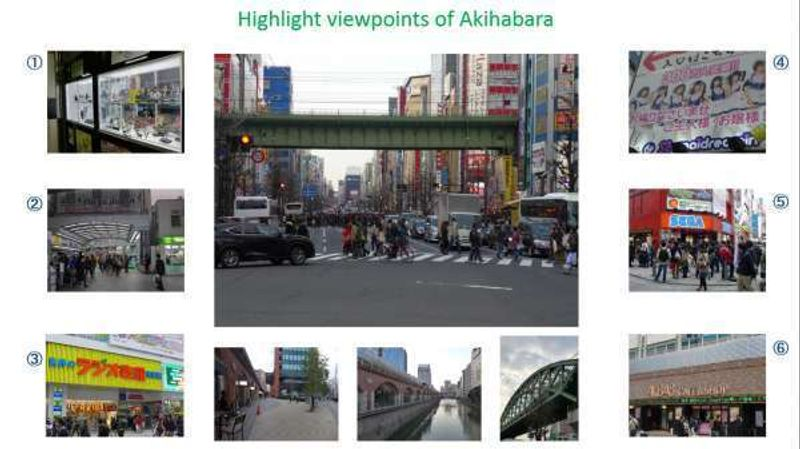 Highlight spots of Akihabara area