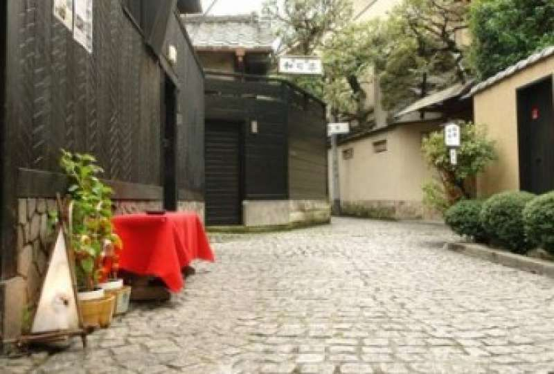 Geisha Lane     Professional geisha entertainers used to walk on this quiet lane. Some old-fashioned Japanese restaurants and inns.