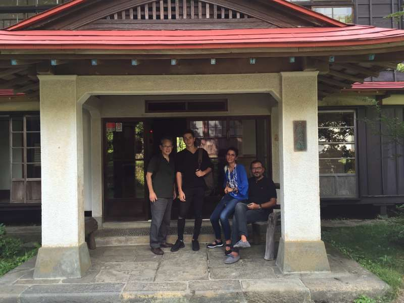 At rural onsen house in Ubako with Italian family.