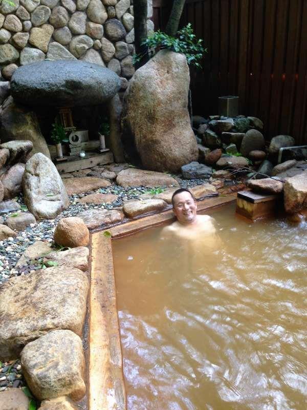 Batheing in Arima Hot Spring