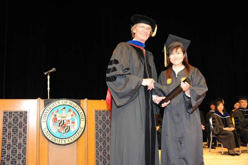 I graduated UMUC, psychology major. UMUC is the university which is located on American base in Okinawa.