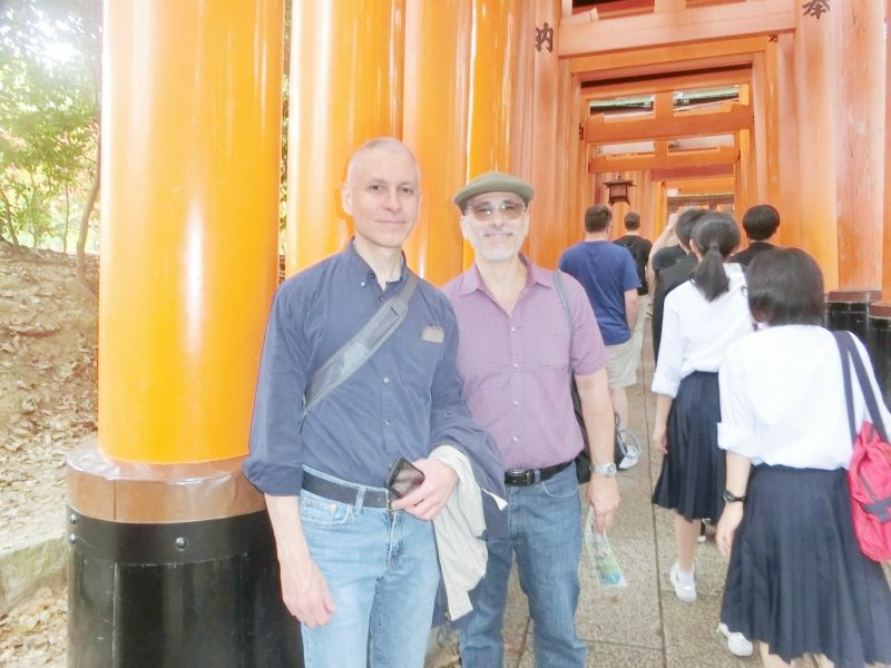 Fushimi Shrine with my guests