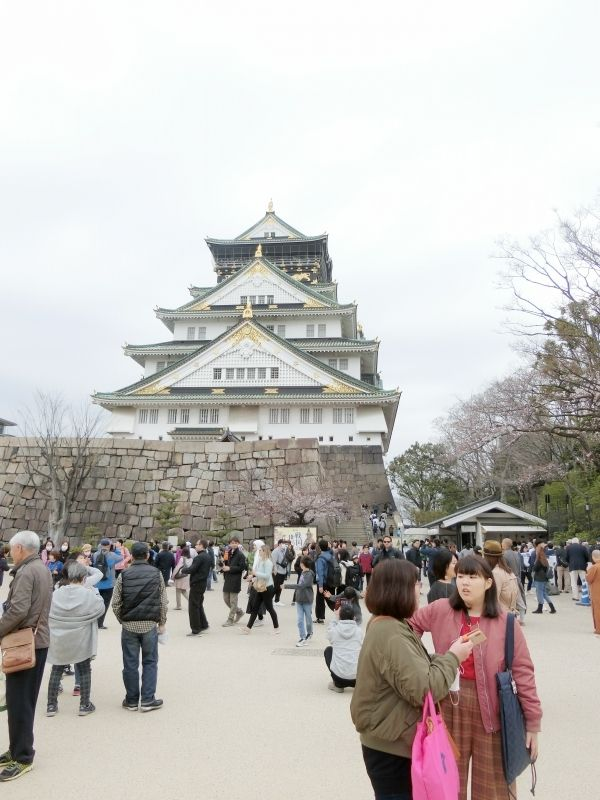 Osaka Castle with my guests