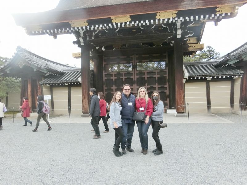Kyoto Old Imperial Palace with my guests