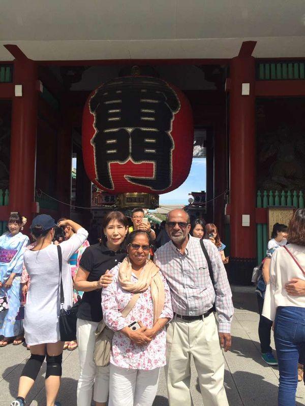 at Asakusa Sensouji Temple