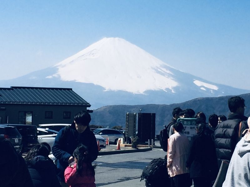 Mt. Fuji seeing from Hakone Owakudani Valley