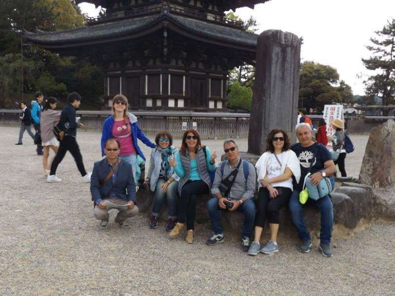 at Five Storied Pagoda in Kohfukuji Temple