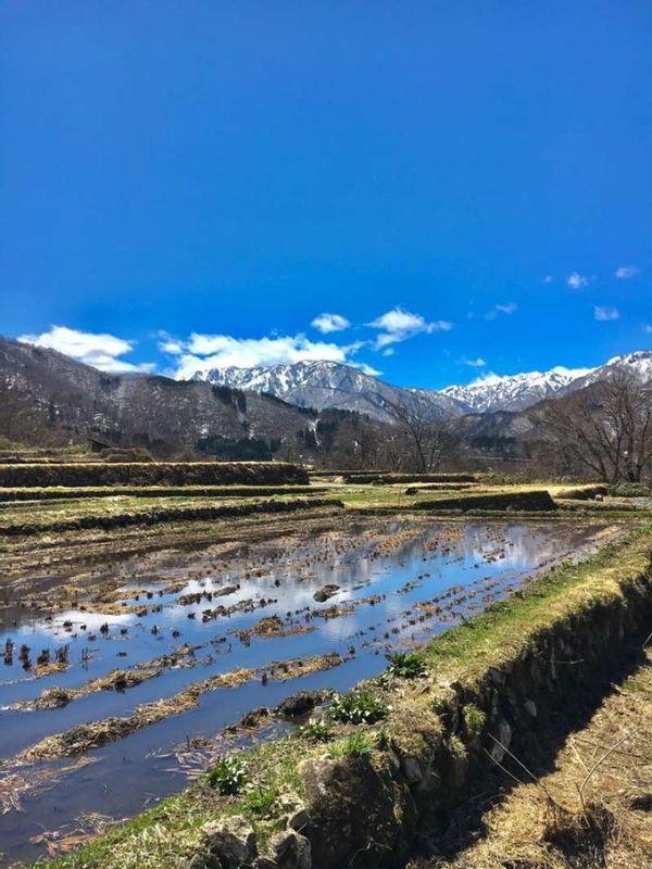 Mount Hakusan from Shirakawago