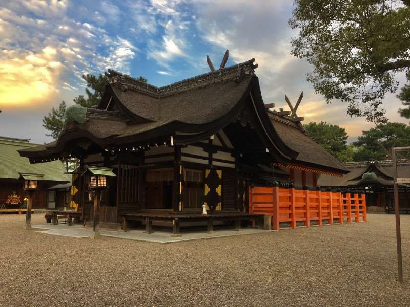 Sumiyoshi Taisha Shrine in Osaka
