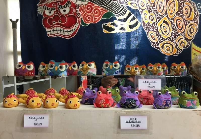 at souvenir shop in Takayama