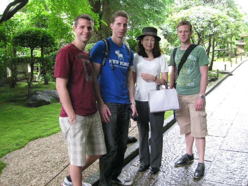 In the garden of Hokokuji Temple
