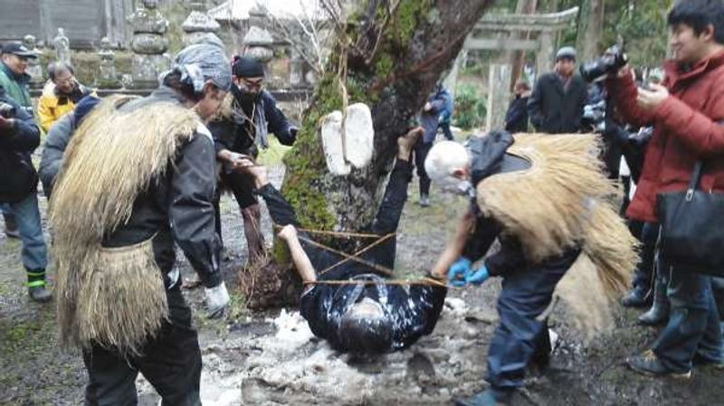 Sacred? shrine ritual for abundant harvet in February