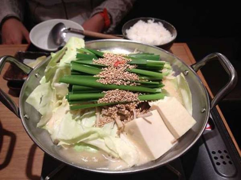 Motsu-nabe, a kind of pot dish. It is well known as a specialty dish in Fukuoka. Why don't you try that?