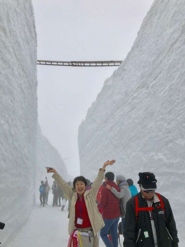 "Tateyama Kurobe Alpen Route 2018. Snow wall ""Yuki-no-Otani"""