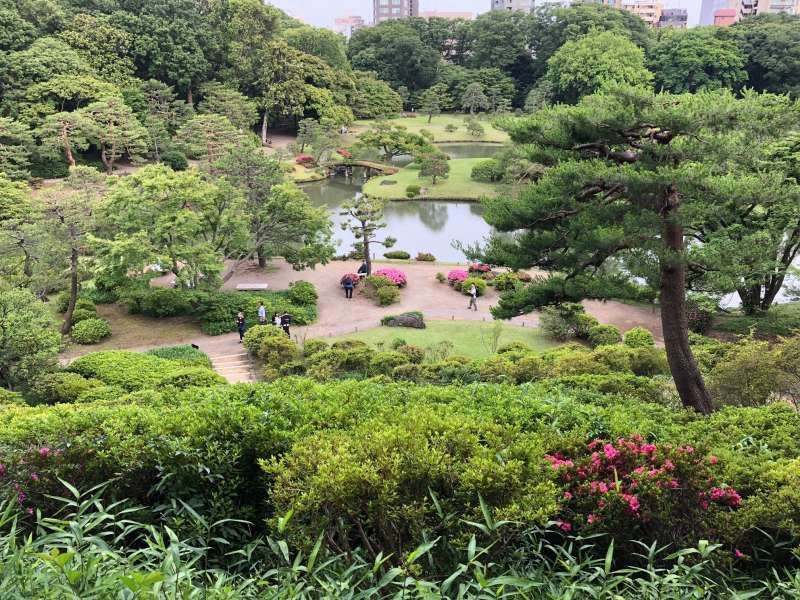 Rikugien-garden. One of the most famous gardens in Tokyo.