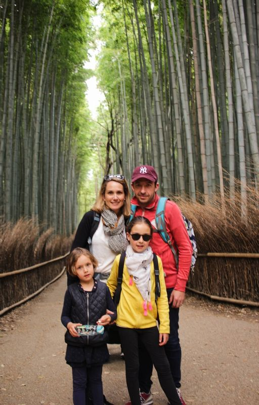 In low season such as February, you can easily manage to take pictures at Bamboo forest.