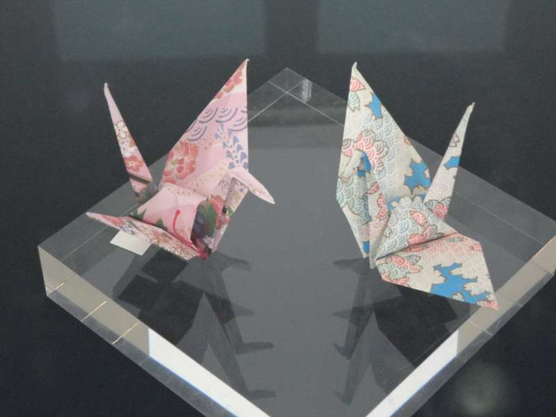 Four Paper Cranes President Obama Placed in Hiroshima
