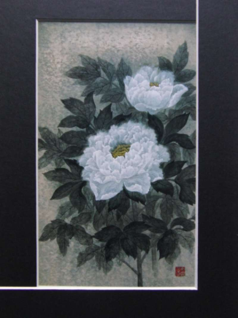 Modern Japanese-style painting by natural mineral pigments