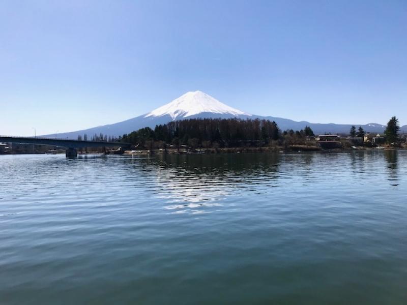 Viewing Mt Fuji, awe-inspiring sacred mountain from Lake Kawaguchiko