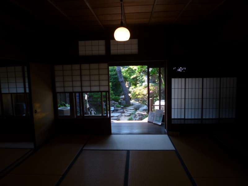 Visitors can stroll around japanese rooms and gardens in a few old houses.