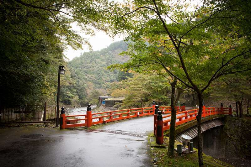 A bridge leading to Jingo-ji Temple at Takao