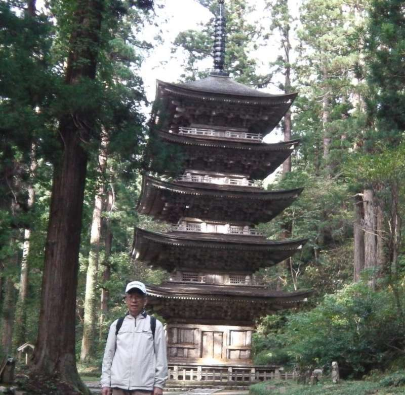 The five story pagoda in a forest (National Treasure and Mechelin ★★), about 5 min. walk from the entrance