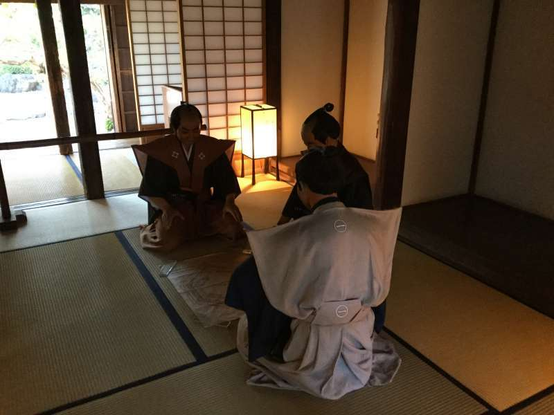 The model of Samurai meeting in Kawagoe castle