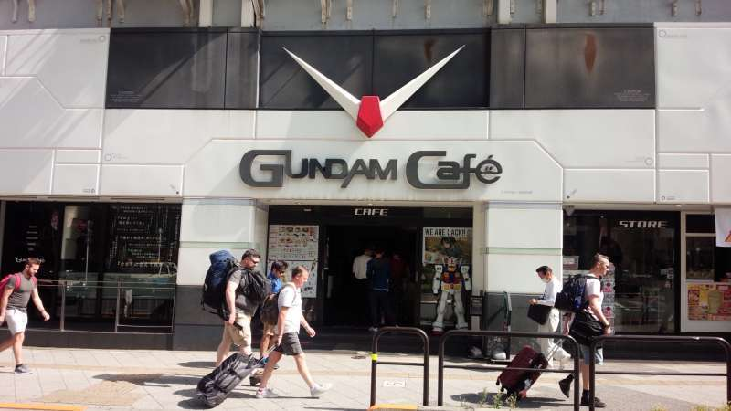 Gundam Cafe in Akihabara. This exciting town provides interesting mixture of traditional and modern culture.