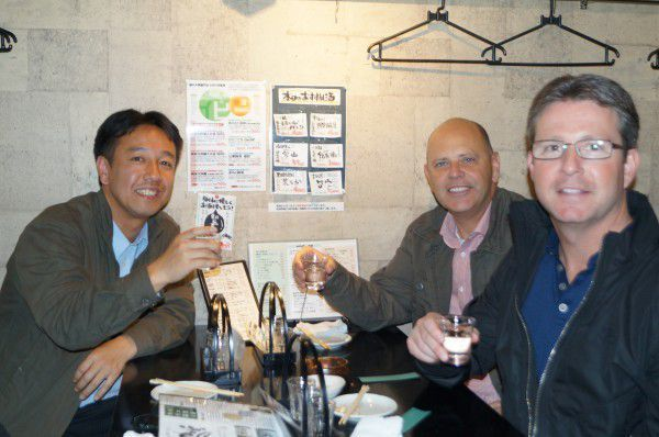 Sake tasting, cheers!