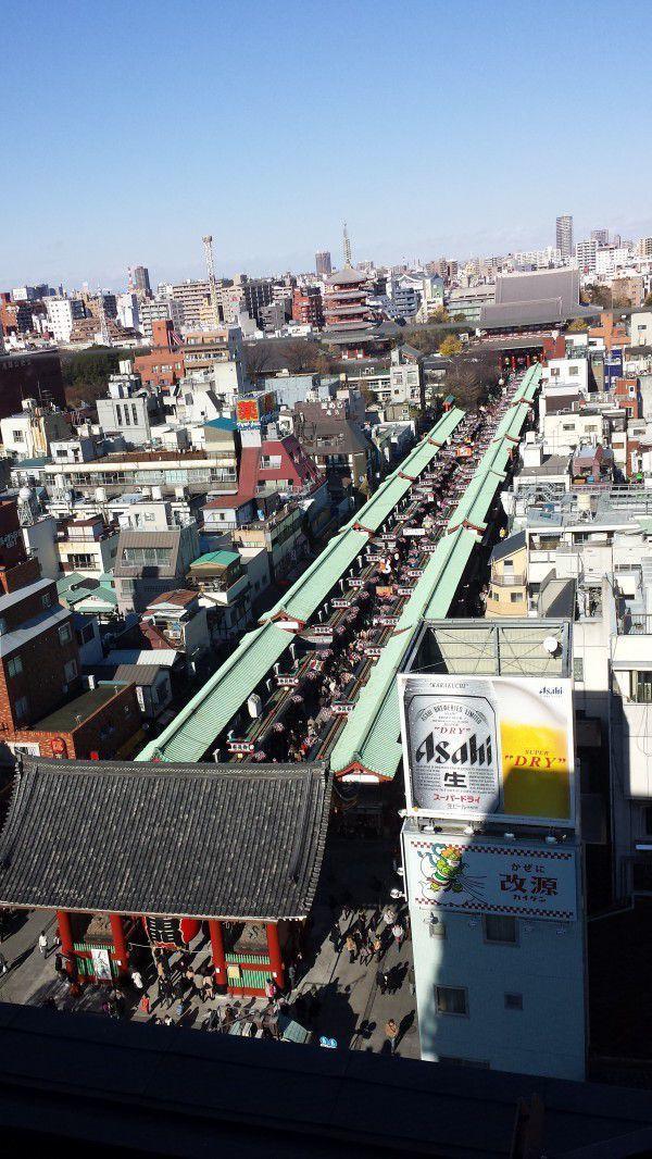 Asakusa Temple town shopping street.