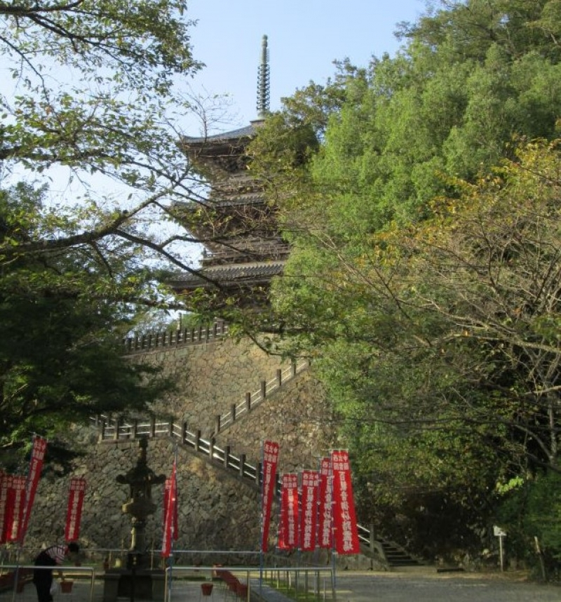 Kiyomizudera-Temple. You can go inside and enjoy the great view from the top.