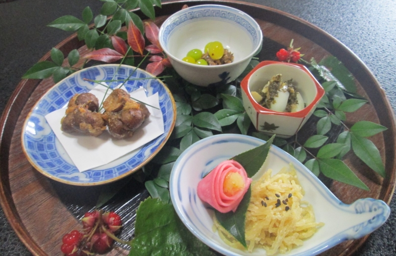 Part of the one seasonal vegetable dish at Kiyomizudera Temple (winter)