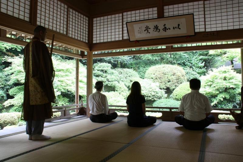 Kiyomizudera Temple: Zazen meditation