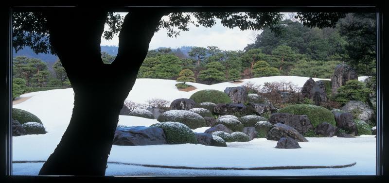Adachi Museum of Art: garden in winter