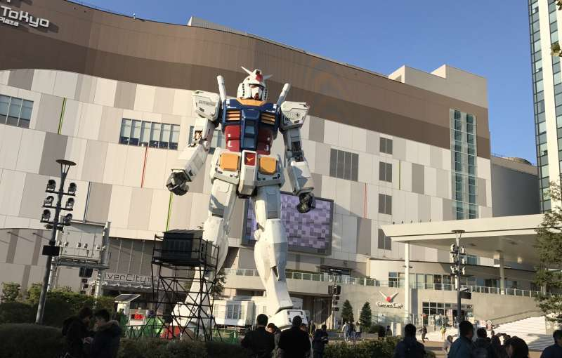 7.Odaiba is an attractive spot for kids along with adults. This is the full-sized model of Gundam. The National Museum of the Emerging Future and Innovation (Miraikan) is in this area.