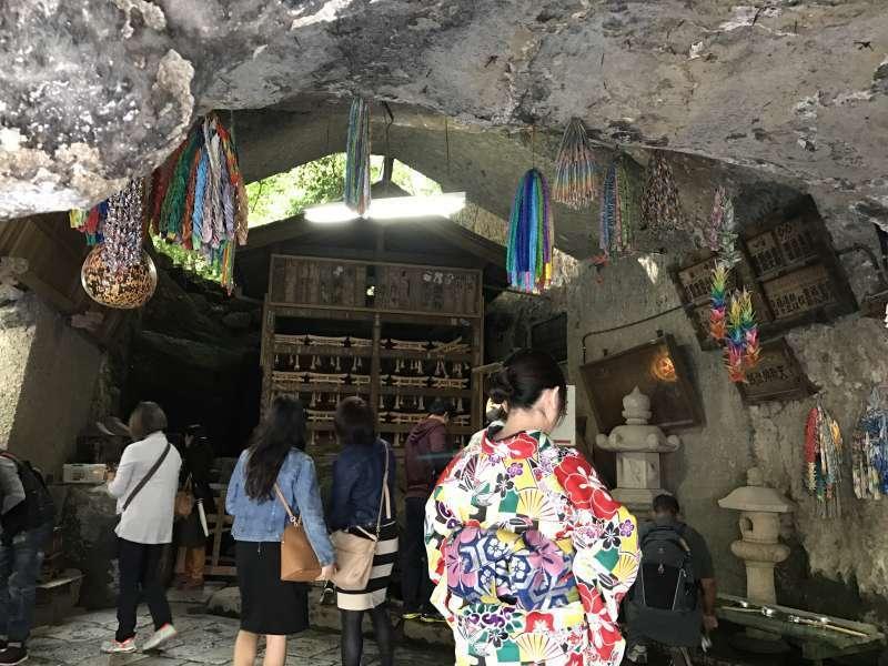 Zeniarai Benzaiten Ugafuku Jinja Shrine, where visitors wash money with the spring water to wish more money, in Central Kamakura Area