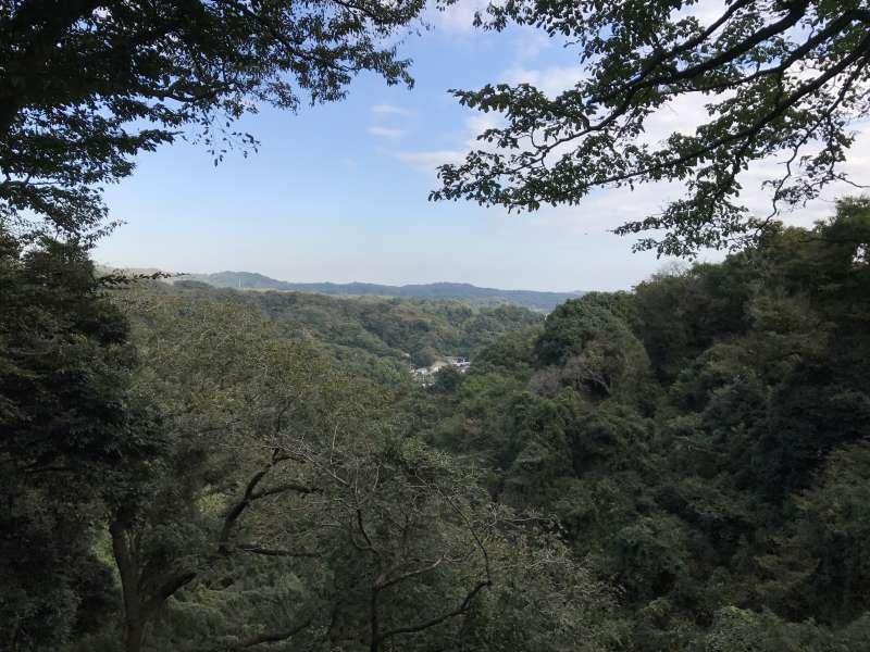 A scene from a hiking trail in Kita-Kamakura, Northern Kamakura Area